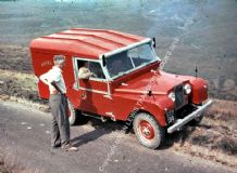 Land Rover series 1 ROYAL MAIL on Welsh hillside early 1960s
